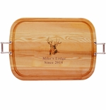 """EVERYDAY COLLECTION: 21"""" x 15"""" LARGE TRAY PERSONALIZED BUCK"""