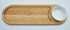 "EVERYDAY COLLECTION: 21""x 7"" DIP AND SERVE BOARD: CLASS OF 2014"