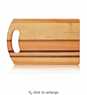 Flamingo Integrity Personalized Bread Board