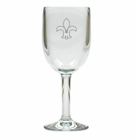 FLEUR DE LIS WINE STEMWARE - SET OF 4 (Unbreakable)