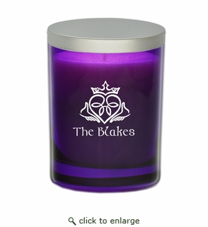 GEM COLLECTION CANDLE: Amethyst with Claddagh and Celtic Name