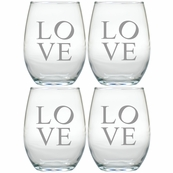 GLASS STEMLESS WINE SETS