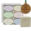 """HOLIDAY GIFT SET: CLASSIC ORNAMENT, SIGNITURE SPA INSPIRE SOAPS, PURE AROMATHERAPY 4"""" PALM WAX CANDLE"""