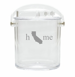 HOME STATE ICE BUCKET WITH TONGS