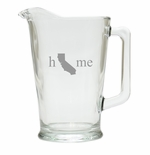 HOME STATE PITCHER  (GLASS)