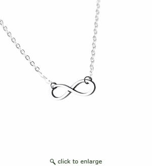 Infinity Pendant .935 Argentium Sterling Silver