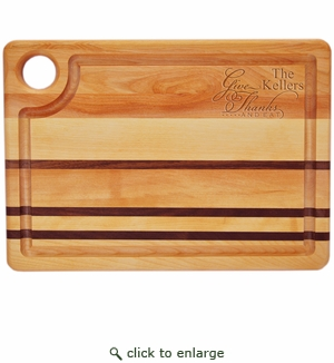 INTEGRITY BOARD: STEAK CARVING BOARD GIVE THANKS AND EAT PERSONALIZED