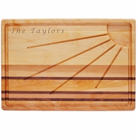 "INTEGRITY BOARD: 20"" x 13"" SUNBURST CARVING BOARD"