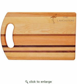 "INTEGRITY COLLECTION:14"" x 9"" BREAD BOARD PERSONALIZED FLAMINGO"