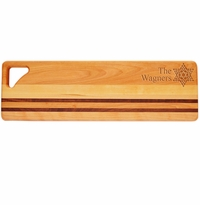 "INTEGRITY LONG BOARD: 20"" x 6""  PERSONALIZED FANCY STAR OF DAVID"