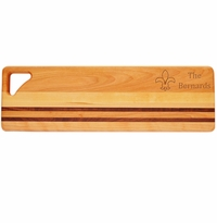 "INTEGRITY LONG BOARD: 20"" x 6"" PERSONALIZED FLEUR DE LIS"