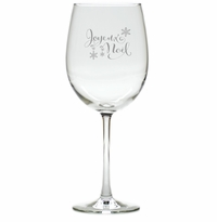 JOYEUX NOEL WINE STEMWARE - SET OF 4 (GLASS)