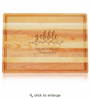 Large Master Collection Board : Gobble with Name, Thanksgiving & Year