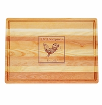 "MASTER COLLECTION: 20"" x 14.5"" LARGE BOARD PERSONALIZED ROOSTER"