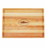 """MASTER COLLECTION: 20"""" x 14.5"""" LARGE BOARD PERSONALIZED TROUT LAKE HOUSE"""