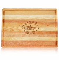 "MASTER COLLECTION: 20"" x 14.5"" LARGE BOARD PERSONALIZED TROUT LAKE HOUSE"