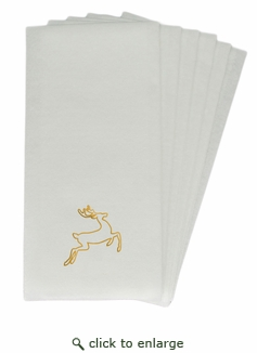 LINEN-LIKE DISPOSABLE GUEST TOWELS : 25 Count GOLD DEER