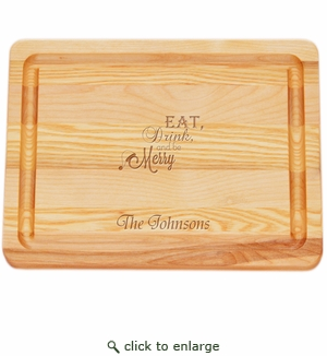 "MASTER COLLECTION: 10"" x 7.5"" SMALL BOARD EAT, DRINK, BE MERRY PERSONALIZED"