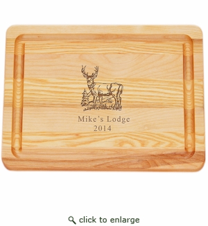 "MASTER COLLECTION: 10"" x 7.5"" SMALL BOARD PERSONALIZED BUCK"