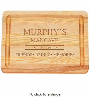 """MASTER COLLECTION: 10"""" x 7.5"""" SMALL BOARD PERSONALIZED MANCAVE"""