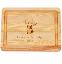 "MASTER COLLECTION: 10"" x 7.5"" SMALL BOARD PERSONALIZED TROPHY BUCK"