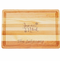 "MASTER COLLECTION: 14.5"" x 10"" MEDIUM BOARD JOYEUX NOEL PERSONALIZED"