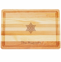 "MASTER COLLECTION: 14.5"" x 10"" MEDIUM BOARD PERSONALIZED FANCY STAR OF DAVID"