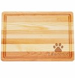 """MASTER COLLECTION: 14.5"""" x 10"""" MEDIUM BOARD PERSONALIZED PAW PRINT"""