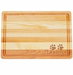 """MASTER COLLECTION: 14.5"""" x 10"""" MEDIUM BOARD PERSONALIZED PAWS"""