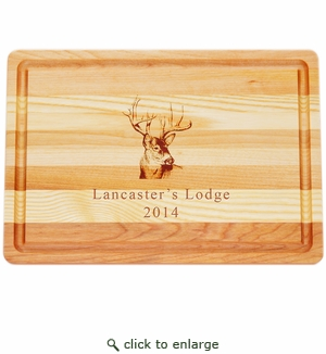 "MASTER COLLECTION: 14.5"" x 10"" MEDIUM BOARD PERSONALIZED TROPHY BUCK"