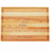 "MASTER COLLECTION: 20"" x 14.5"" LARGE BOARD EAT, DRINK, AND BE MERRY PERSONALIZED"