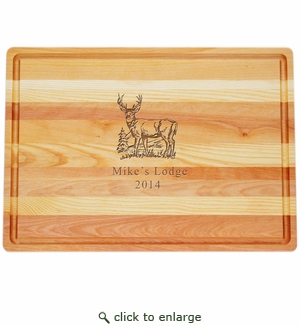 "MASTER COLLECTION: 20"" x 14.5"" LARGE BOARD PERSONALIZED BUCK"