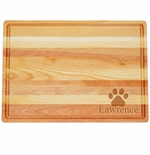 """MASTER COLLECTION: 20"""" x 14.5"""" LARGE BOARD PERSONALIZED PAW PRINT"""