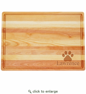 "MASTER COLLECTION: 20"" x 14.5"" LARGE BOARD PERSONALIZED PAW PRINT"