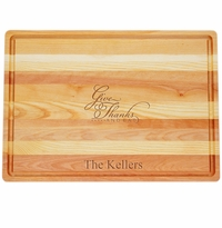 "MASTER COLLECTION: 20"" x 14.5"" LARGE BOARD GIVE THANKS AND EAT PERSONALIZED"