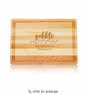 Medium Master Collection Board : Gobble with Name, Thanksgiving & Year