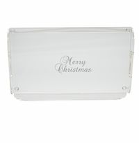 MERRY CHRISTMAS SERVING TRAY WITH HANDLES