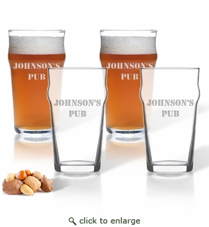 NONIC PINT GLASS SET OF 4 GLASSES