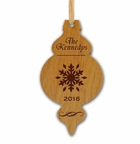 OLD FASHIONED PERSONALIZED WOODEN ORNAMENT
