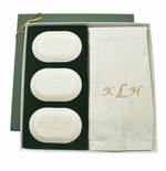 ORIGINAL GIFT SET (3 Bars 1 Towel) : GOLD MONOGRAM
