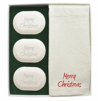 ORIGINAL LUXURY GIFT SET (3 Bars 1 Towel): MERRY CHRISTMAS