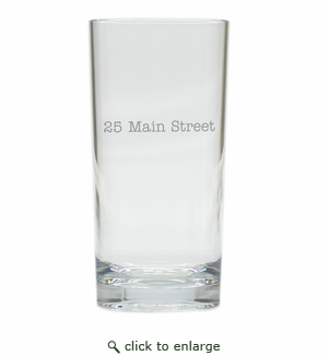 PERSONALIZED ADDRESS COOLER: SET OF 6 (Glass)