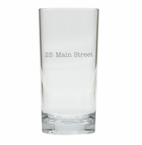 PERSONALIZED ADDRESS HIGHBALL: SET OF 4 (Unbreakable)
