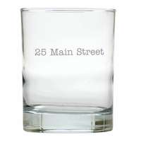 PERSONALIZED ADDRESS OLD FASHIONED - SET OF 6 GLASS