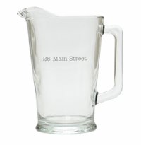 PERSONALIZED ADDRESS PITCHER  (GLASS)