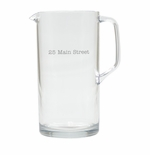 PERSONALIZED ADDRESS PITCHER  (Unbreakable)