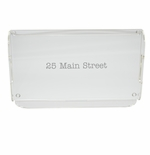 PERSONALIZED ADDRESS SERVING TRAY WITH HANDLES