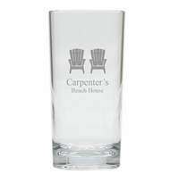 PERSONALIZED ADIRONDACK CHAIR COOLER: SET OF 6 (Glass)