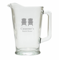 PERSONALIZED ADIRONDACK CHAIR  PITCHER  (GLASS)