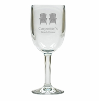 PERSONALIZED ADIRONDACK CHAIR WINE STEMWARE - SET OF 4 (Unbreakable)
